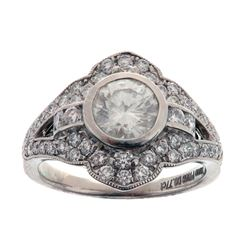 EXCELLENT 1.82 ct. Diamond & Platinum Ring