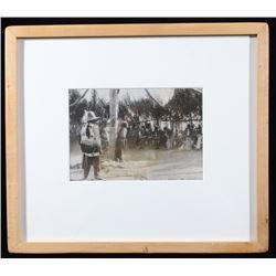 Early 1900's Framed Shoshone Sun Dance Photograph