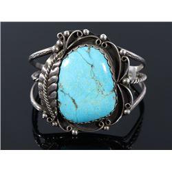 Navajo Turquoise Mountain & Silver Bracelet