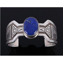 Crow Ken RealBird Sterling & Lapis Lazuli Bracelet