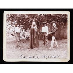 1897 Real Photo Sac & Fox Agency Cabinet Card