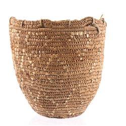 Northwest Coast Indian Hand Woven Gatherers Basket