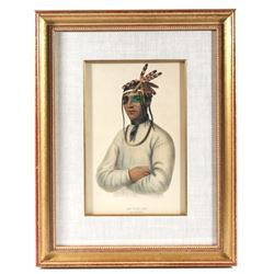 McKenney & Hall Caa-Tou-See Ojibway Chief c. 1836
