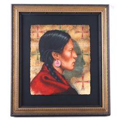 Original Kenneth Ferguson Cheyenne Woman Painting