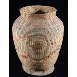 Early 1800's Large Apache Olla Hand Woven Basket