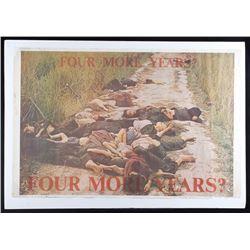 1970's Four More Years Anti War Vietnam Poster