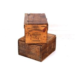 Mid 1900s Snow Excluder & Varnish Wooden Crates
