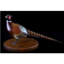 Vicki Hughes Original Carved Wood Pheasant