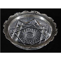 Gorham Sterling & Crystal Decorated Serving Bowl