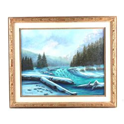 G.C. Wentworth Oil on Canvas from Great Falls, MT