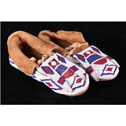 1940s Sioux Fully Beaded Bifurcated Moccasins