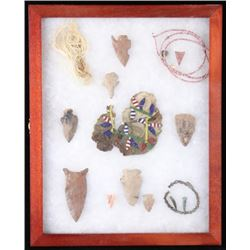 Pre Colombian Artifacts Collection Display Case