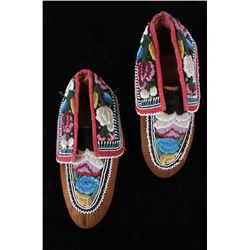 Iroquois Native American Indian Beaded Moccasins