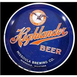 Missoula Brewing Co. Highlander Beer Tray Montana