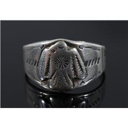 Fred Harvey Sterling Silver Thunderbird Ring