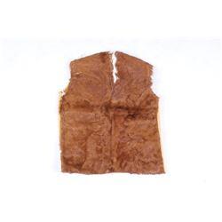 Handmade Tanned Hide & Hereford Cow Hide Vest