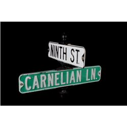 Early Double Side Metal Street Signs