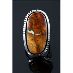 Navajo Sterling Silver & Royston Turquoise Ring