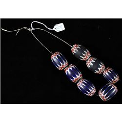 Early 1800's Six Layer Chevron Trade Bead Necklace