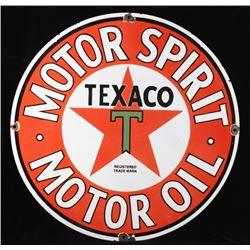 Texaco Motor Oil Recreation Porcelain Enamel Sign