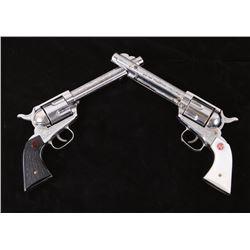 1950s Stallion 45 Die Cast Toy Cap Revolver Pair