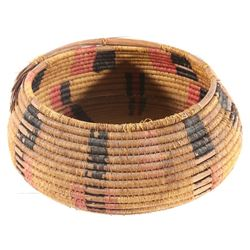North West Coast Hand Woven Coil Basket c. 1800's