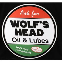 Wolf's Head Oil Reproduction Advertising Sign