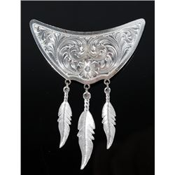 Montana Silversmiths Collar Plate with Feathers