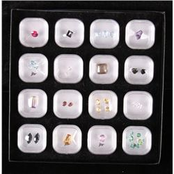 16 Assorted Faceted and Un-Mounted Gemstones
