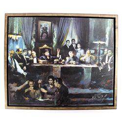 Last Supper of Movie Villians Giclee Art on Canvas
