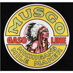 Musgo Gasoline Michigan's Mile Maker Sign Replica