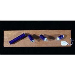 Chevron Cane Trade Bead Crafting Display