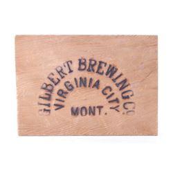 Gilbert Brewing Co Virginia City Wood Burned Ad.