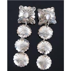 Navajo Sterling Silver & Mother of Pearl Earrings