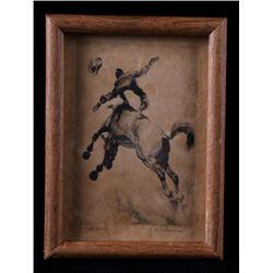 """Framed """"Up and Over"""" by Reinhold H. Palenske"""