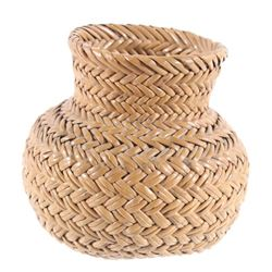 Northwest Coast Woven Pine Needle Basket c. 1940's