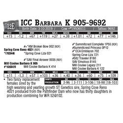 Lot - 12E - ICC Barbara K 905-9692
