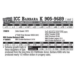 Lot - 12G - ICC Barbara K 905-9689 [ NHF ]