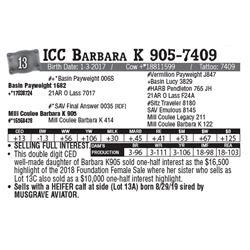 Lot - 13 - ICC Barbara K 905-7409