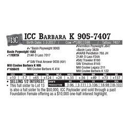 Lot - 13C - ICC Barbara K 905-7407