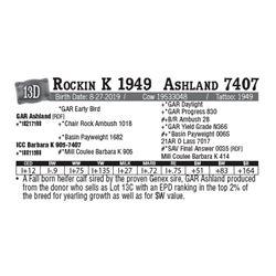 Lot - 13D - Rockin K 1949  Ashland 7407
