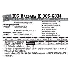 Lot - 16 - ICC Barbara K 905-6334