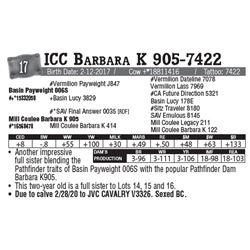 Lot - 17 - ICC Barbara K 905-7422