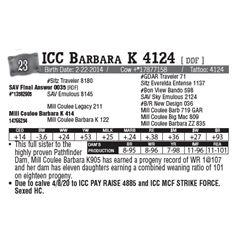 Lot - 23 - ICC Barbara K 4124 [ DDF ]