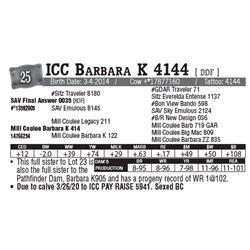 Lot - 25 - ICC Barbara K 4144 [ DDF ]