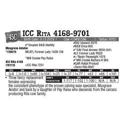 Lot - 45C - ICC Rita 4168-9701