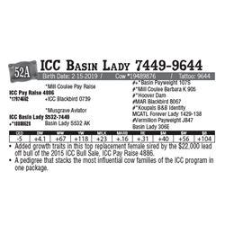 Lot - 52A - ICC Basin Lady 7449-9644