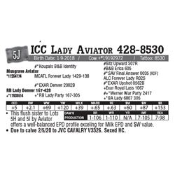 Lot - 5J - ICC Lady Aviator 428-8530