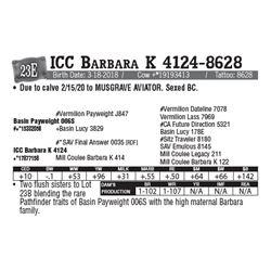 Lot - 23E - ICC Barbara K 4124-8628