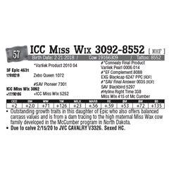 Lot - 57 - ICC Miss Wix 3092-8552 [ NHF ]